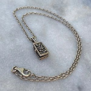 Retired Silpada Prayer Box Necklace 925
